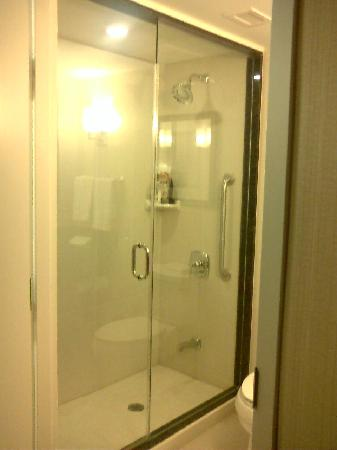 Hilton Garden Inn Toronto Airport: Large walkin shower