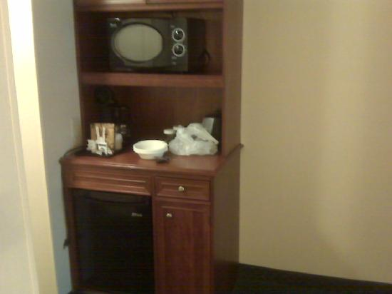 Hilton Garden Inn Hartford South/Glastonbury: Refrigerator and microwave in room