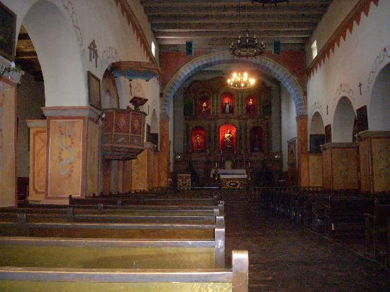 San Juan Bautista, CA: Mission chapel