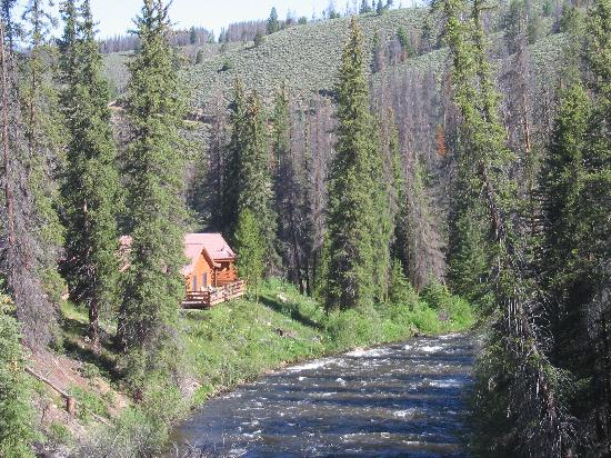 Aspen Canyon Ranch: View of cabin from the lodge