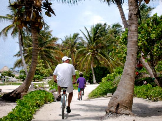 Coco Beach Resort: Riding bikes on the beach
