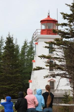 Forest and Stream Cottages: Kids at Cape Bear Lighthouse 5 minutes from Cottage and Stream
