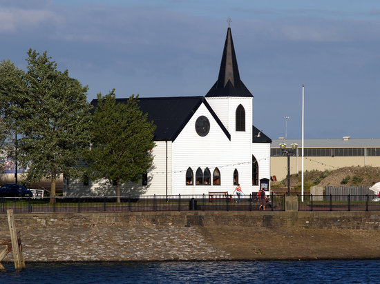 The Norwegian church at Cardiff Bay