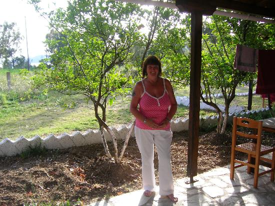 Skiathos, Greece: patio area