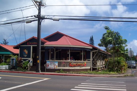 Kalypso Island Bar and Grill : Street view of Kalypso's (and front porch)
