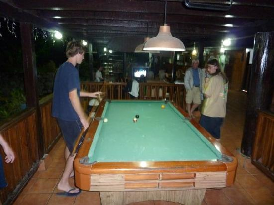 Hotel El Pizote Lodge: a view from the pool table. directly in the center back of the picture is where you'd watch sate