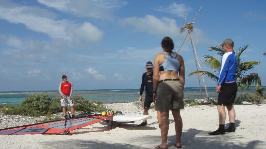 Long Caye Resort: Orientation with the Windsurf Land Trainer