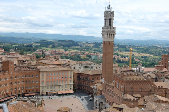 Siena, İtalya: view from the duomo