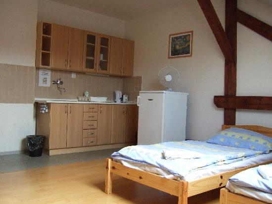 Rosemary Hostel : Our apartment - bedroom and kitchen in one!