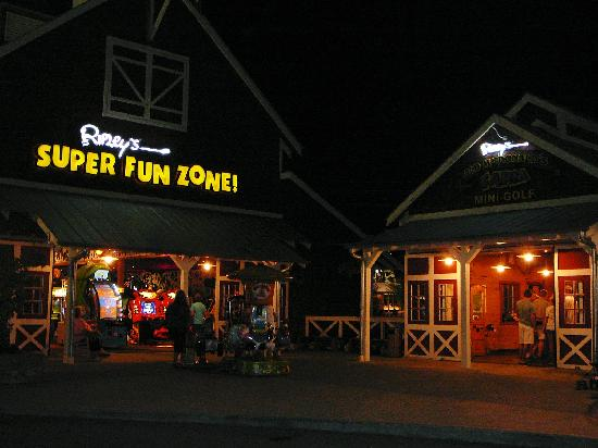 Sevierville, TN: Entrance to Old Macdonald's and Ripley's Fun Zone