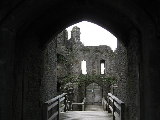 Caerphilly Castle: inside the castle