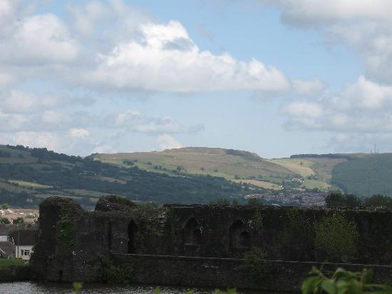 Caerphilly Castle: the landscape around the castle