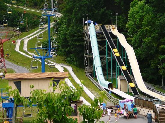Ober Gatlinburg Amusement Park U0026 Ski Area: Waterslides, Alpine Slides U0026 Chair  Lift At