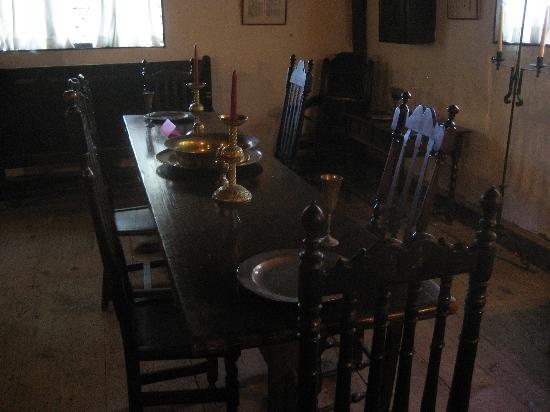 The Witch House/Corwin House: The Dining Area Is Furnished With Authentic  Furniture From