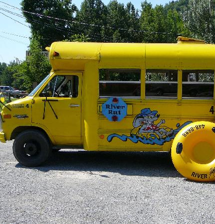 Smoky Mountain River Rat : River Rat shuttle bus and tube