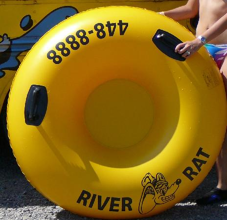 Smoky Mountain River Rat: Tube with bottom (no hole) at River Rat