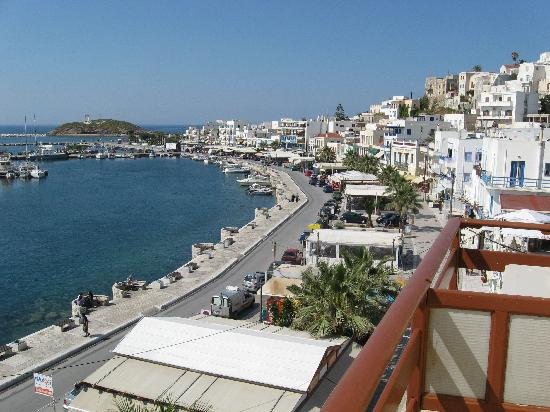 Hotel Coronis: View of the port from our balcony