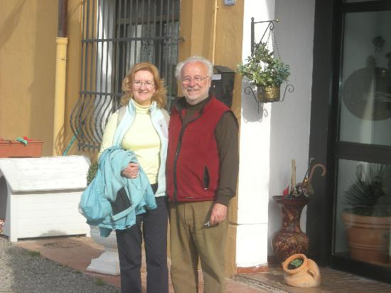 Il Casale B&B: Donna and the proprietor