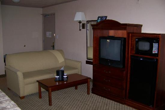 Red Lion Hotel Tacoma: Living Area / TV