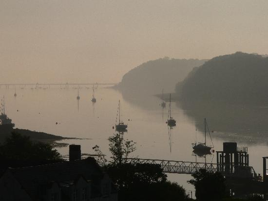 Menai Bridge, UK: view from the balcony in the morning