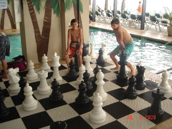 Caribbean Resort And Villas: play chess set by indoor pool