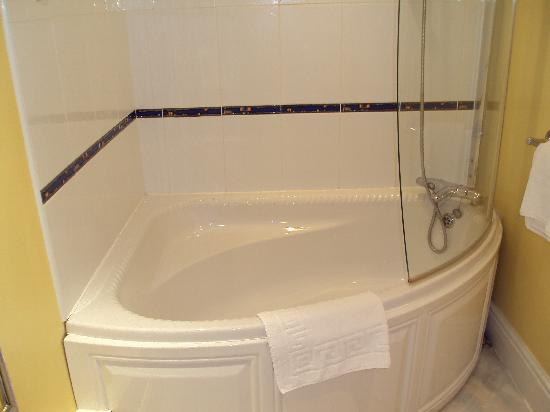 Wroxall Abbey Hotel & Estate: bath/shower in ensuite