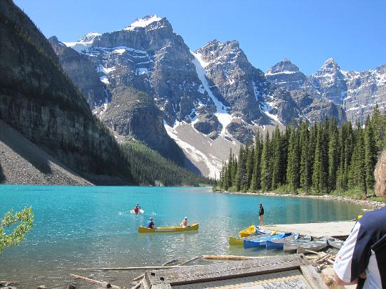 Canoes On Moraine Lake Picture Of Moraine Lake Lodge Lake