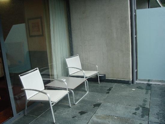 Andorra Park Hotel : Detalle de terraza