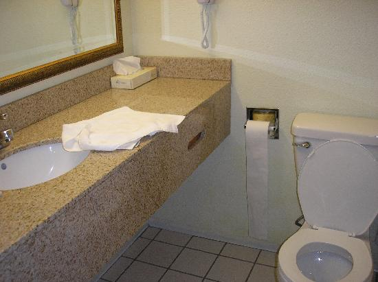 La Quinta Inn Steamboat Springs: The tiny bathroom
