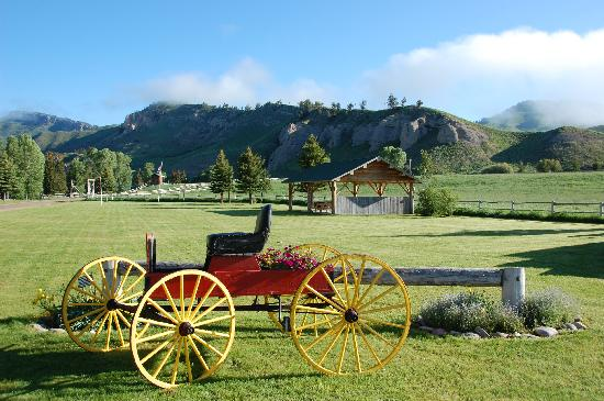 Spotted Horse Ranch: The front of lawn of the Spotted Horse