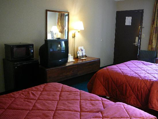 Red Roof Inn Kingsport: TV, Microwave & Medium Mini-Fridge in Room at Comfort INN