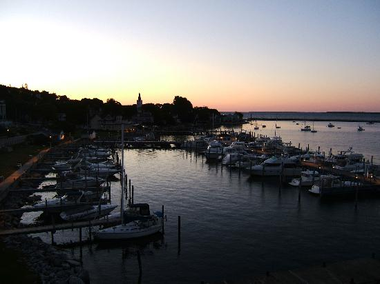 Chippewa Hotel Waterfront: View of Straits of Mackinac from Chippewa Hotel Balcony