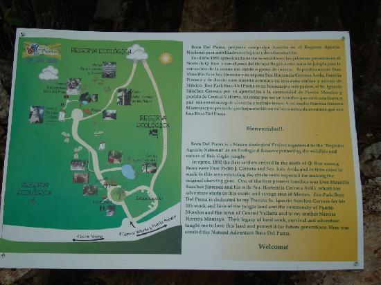 Boca Del Puma : Information board