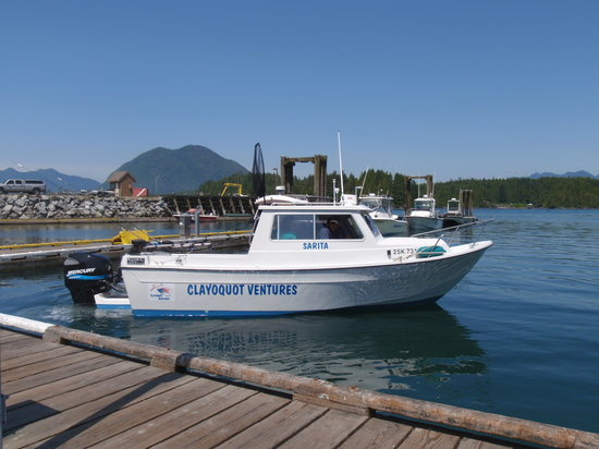 Clayoquot Ventures Tofino Fishing : Boat we fished on