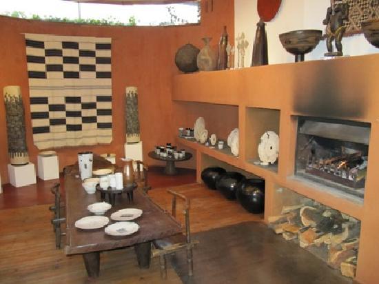 Kim Sacks Gallery: A log fire warms the space