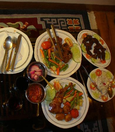 The Oriental: Dinner in the room