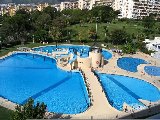 the pool from the balcony of our apartment picture of On apartahoteles en malaga