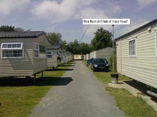 Vauxhall Holiday Park: Main view of caravans