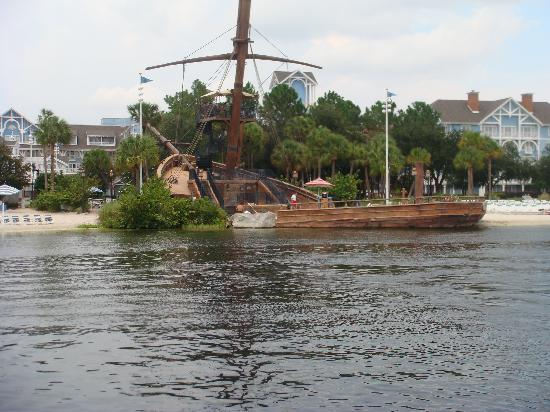 Disney's Beach Club Resort: view from a boat