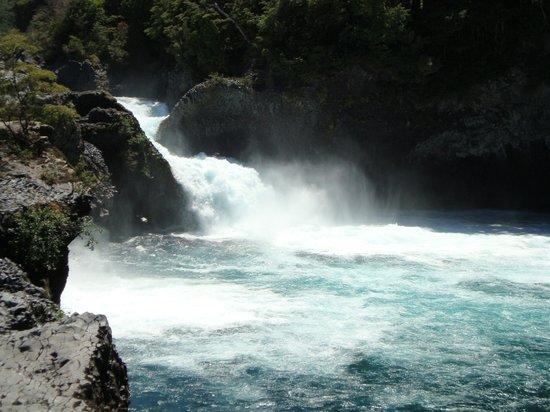 Parque Nacional Vicente Perez Rosales: salto de la cascada,espumeante