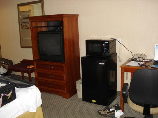 Quality Inn Spring Mills - Martinsburg North: The frig, TV, etc.