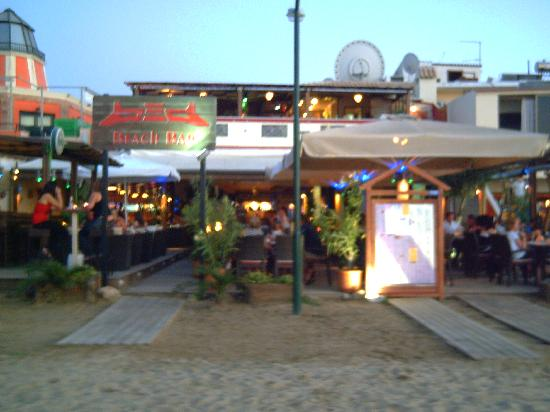 Hotel Astoria Sidari: our favourite restaurant, taken from the beach