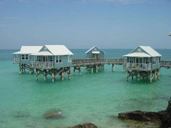9 Beaches Resort: Cabanas on the water.