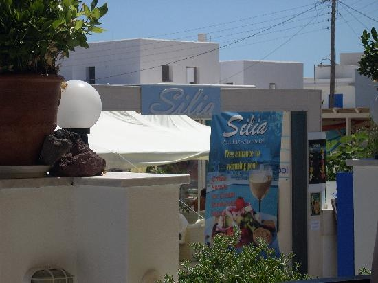 Silia Pool Bar: the sign out front