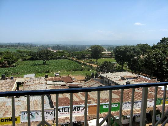 Kitale, Kenya: View from balcony with Mt Elgon in distance