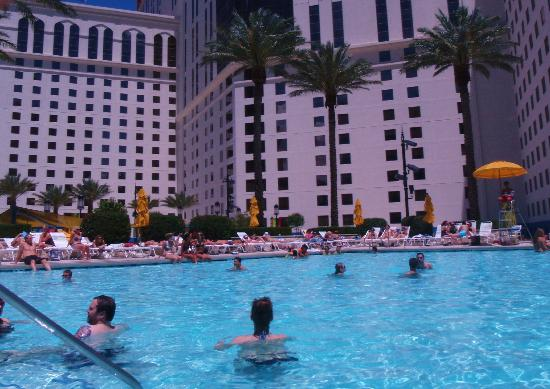 One Of 2 Pools On The Mezzanine Picture Of Planet Hollywood Resort Casino Las Vegas