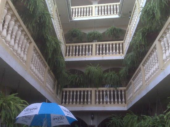 Masaya, Nicaragua: View of top floors from inner courtyard