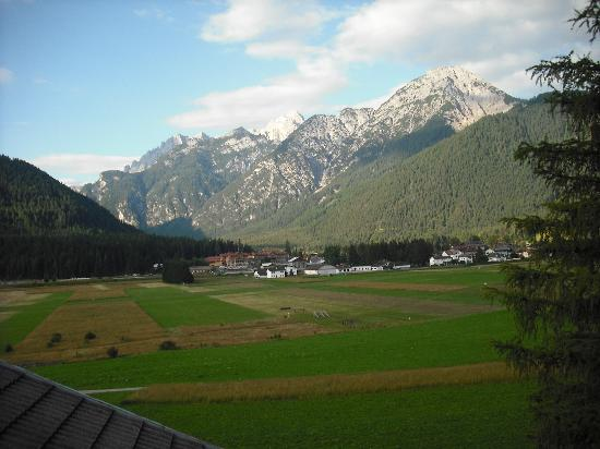 View from my room at the Hotel Rosengarten