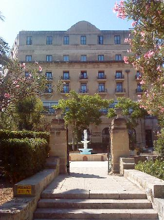 The Phoenicia Malta: The view of the hotel from the gardens