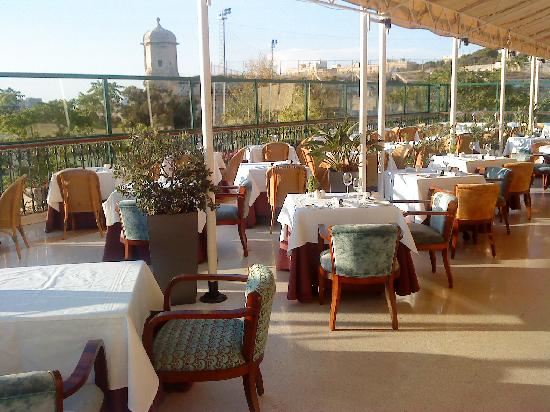 The Phoenicia Malta: The Phoenix restaurant terrace